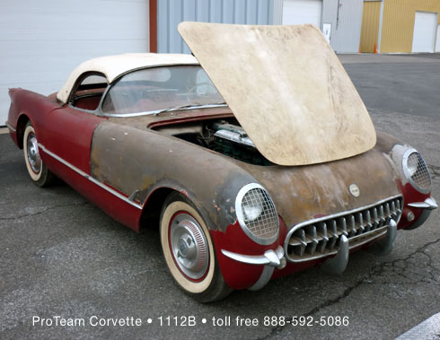 1954 Corvette specifications and search results of 1954's for sale